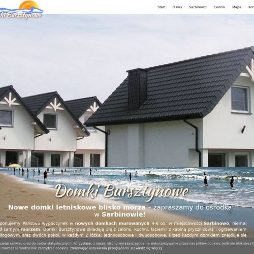 Nowe, murowane domki letniskowe nad morzem