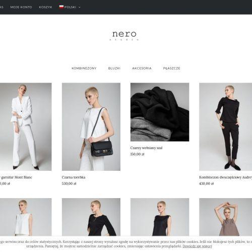 Sklep internetowy z elegancką odzieżą