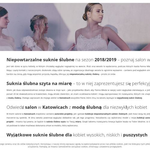 Autorskie projekty sukien ślubnych - Katowice