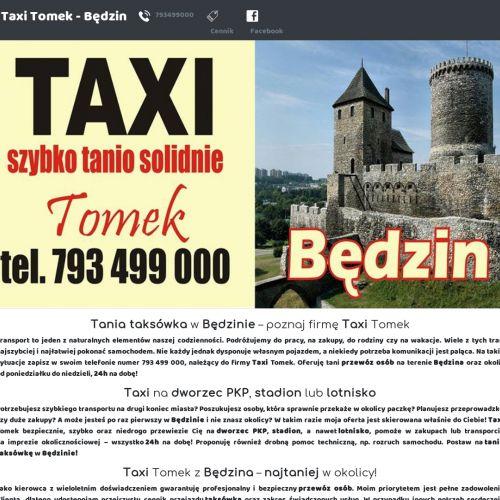 Tania taksówka - Będzin