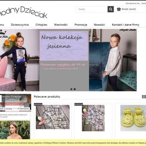 Sklep internetowy z ubraniami dla dzieci