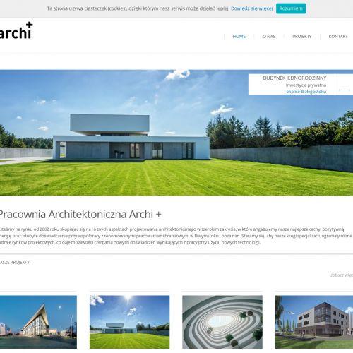 Projekt budynku mieszkalnego lub przemysłowego