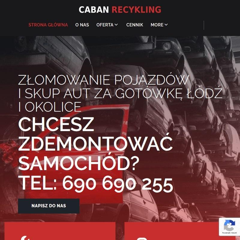 Demontaż aut na naszej stacji kasacji w Łodzi