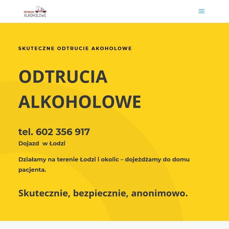 Odtruwanie poalkoholowe na terenie Łodzi