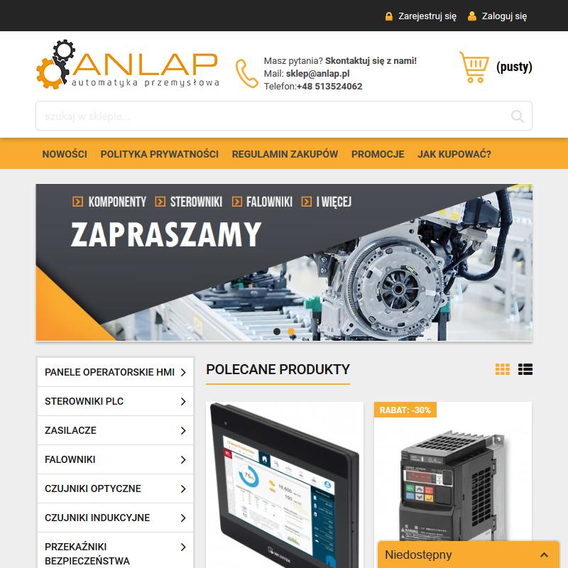 Sklep internetowy z automatyką przemysłową