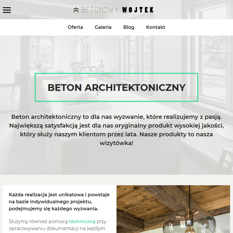 Beton architektoniczny w kuchni - Wrocław