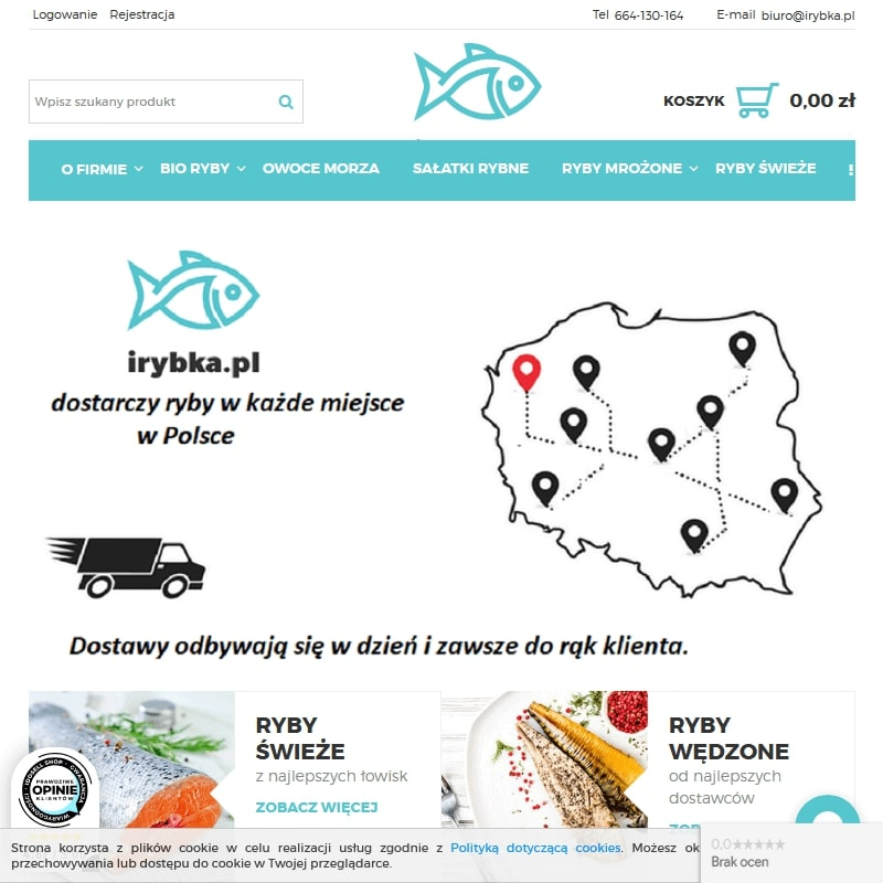 Sklep internetowy z morskimi rybami