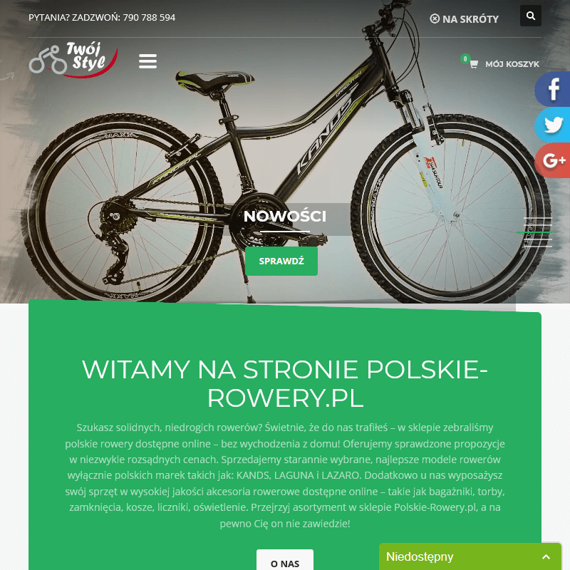 Konfiguracja roweru online